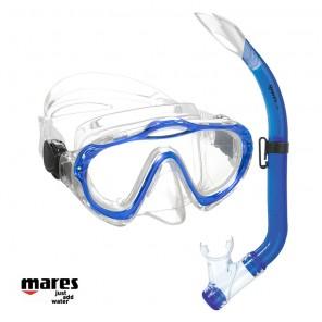 Maschera bambini Mares Sharky con snorkel blu