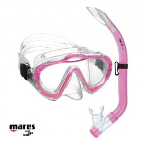 Maschera bambini Mares Sharky con snorkel rosa