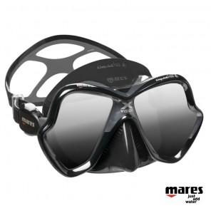 Maschera Mares X-Vision ultra Liquidskin nera lenti argento