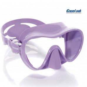 Maschera subacquea Cressi Sub F1 in silicone lilla