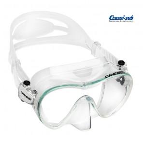 Maschera subacquea Cressi Sub F1 in silicone trasparente