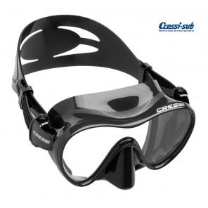Maschera subacquea Cressi Sub F1 in silicone nera