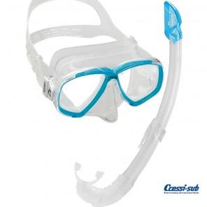 Maschera Cressi Sub Perla Trasparente in silicone con boccaglio