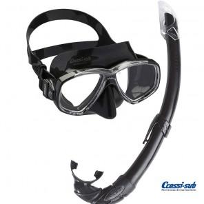 Maschera Cressi Sub Perla Nera in silicone con boccaglio