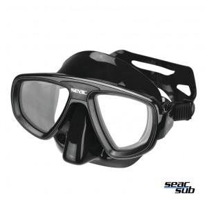 Maschera Seac Sub Extreme Nero in silicone