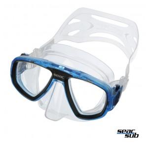 Maschera Seac Sub Extreme Trasparente - Blue in silicone