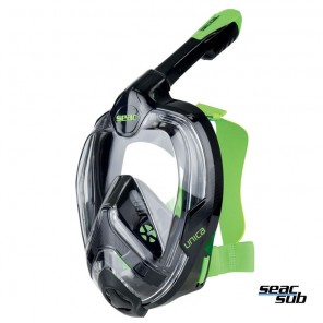 Maschera Seac Sub unica full-mask size l/xl colore nero-lime