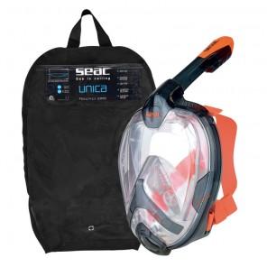 Maschera Seac Sub Unica full-mask size L/XL colore nero-orange