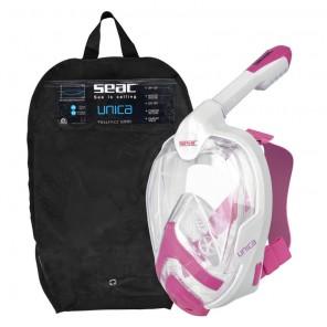 Maschera Seac Sub Unica full-mask size S/M colore bianco-rosa