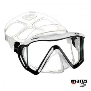Maschera sub Mares I3 in Liquidskin Trasparente / White