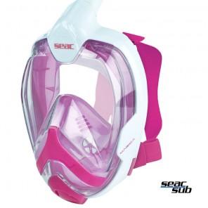 Maschera Full Face Seac Sub Magica S/M Pink Donne - Ragazzi