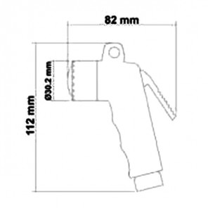 Doccia senza tubo standard bianca