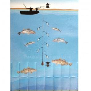 Raglout Mitraillette Calamento pesca Fluorescente