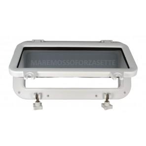 Oblo per Barca Rettangolare in Nylon Bianco mm 400x200