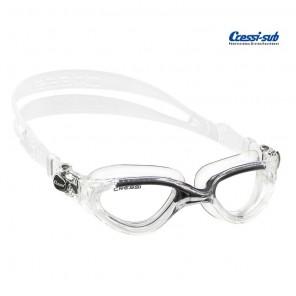 Occhialini nuoto Cressi Sub Flash in silicone trasp/nero