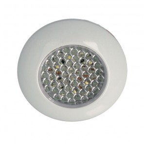 Plafoniera da incasso 9 Led in ABS bianco 12V IP40
