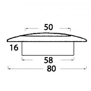 Plafoniera incasso ABS 9 led bianca 12v