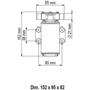 Pompa UP1 Marco con girante in gomma 35 litri/min