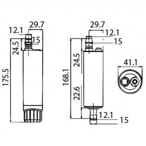 Pompa Ad Immersione per Taniche 12Volt Acqua o Gasolio 18Lt/Min