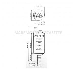 Pompa per acqua in linea TMC 12 volt