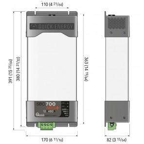 Carica Batterie Barca Quick SBC700NRG+ 12V 60A Uscite 3