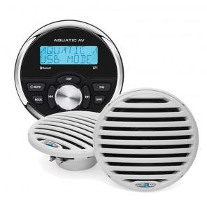 Radio stereo per barca kit installazione con casse Aquatic AV GP1 IP65