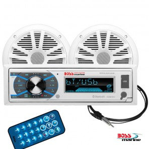 Radio barca stereo marinizzato Boss Marine MR632UAB Kit con Casse
