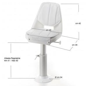 Poltrona di guida sedile per barca completa admiral O1411042