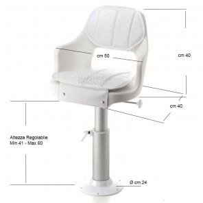 Poltrona di guida sedile per barca completa captain O1411040