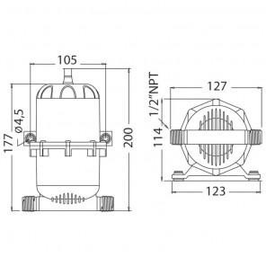 Serbatoio di espansione in ABS per Pompe autoclavi dell'Acqua