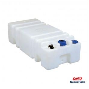 Serbatoio per acqua Sogliola 60 Lt con tappo a vite cm 85x35x22h
