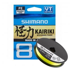 Trecciato per la pesca Shimano Kairiki 8 Metri 300 Giallo