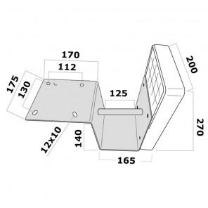 Supporto Motore Fuoribordo Ribassato Per Plancetta Max 40 Kg