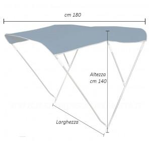 Tendalino per barca telo BLU pieghevole 3 archi altezza cm 140