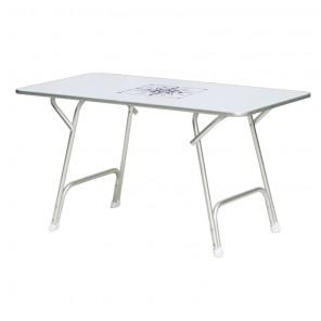 Tavolo Per Barca Pieghevole in Alluminio cm 130x73 Altezza cm 72