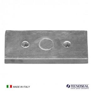 Piastra in zinco Anodo per Flaps mm 100x45x9h