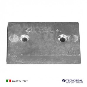 Piastra in zinco Anodo per Flaps mm 110x67x20h