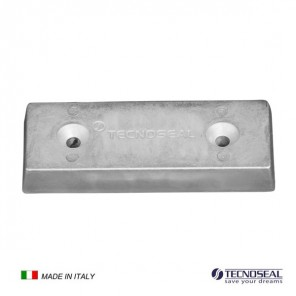 Piastra in zinco Anodo per Flaps mm 130x50x17h