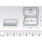 Sportello quadro piccolo serie top 375x370mm