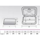 Sportello rettangolare piccolo serie top 375x270 mm