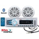 Radio Stereo Barca Marinizzato Boss Marine Mr1308 Kit Bluetooth