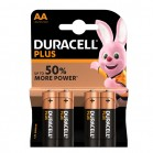 Pile Duracell tipo stilo AA Blister 4 pile