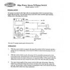 Pannello di controllo per pompe di sentina con allarme