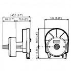 Timoneria Ultraflex T67W Coprimozzo Bianco per cavo M58